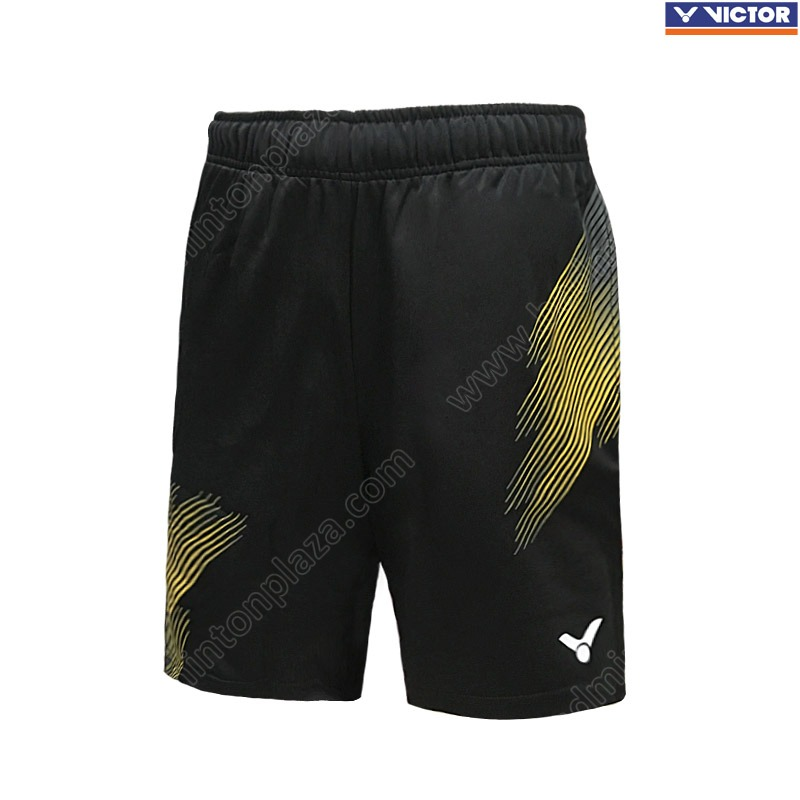 Victor Knitted Shorts Black/Yellow (AR-9090CE)