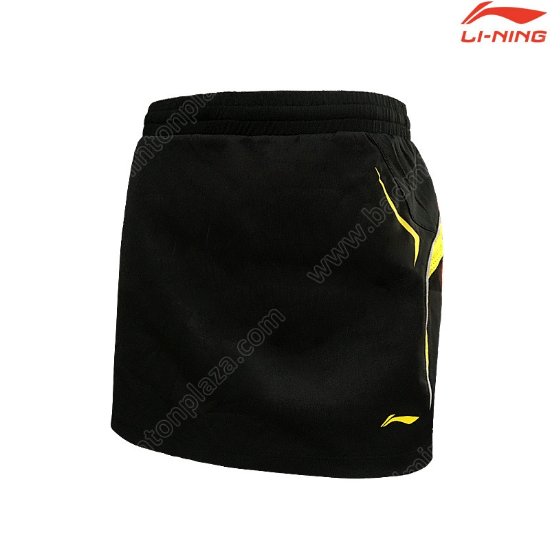 Li-Ning 2016 International Competitions Skirt Black/Yellow (ASKJ232-2)