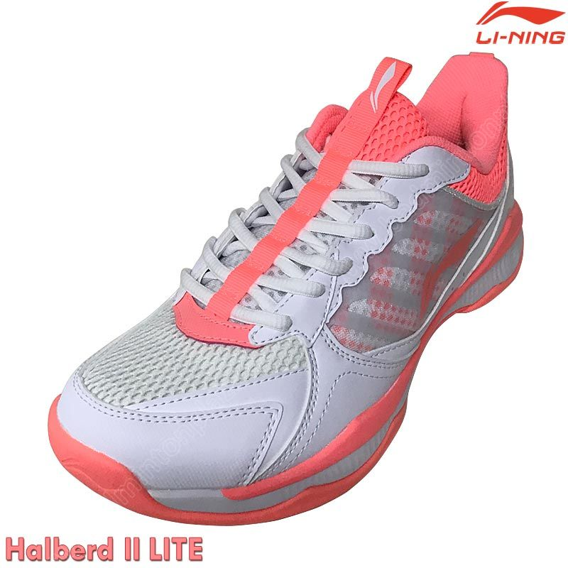 Li-Ning 2020 Ladies Badminton Shoes HALBERD II LITE White/Pink (AYTQ028-1)