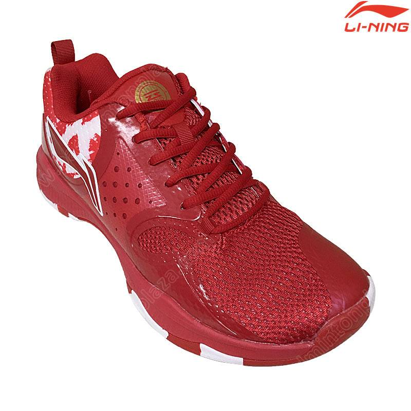 Li-Ning Badminton Shoes HALBERD TD Red (AYTQ049-2)