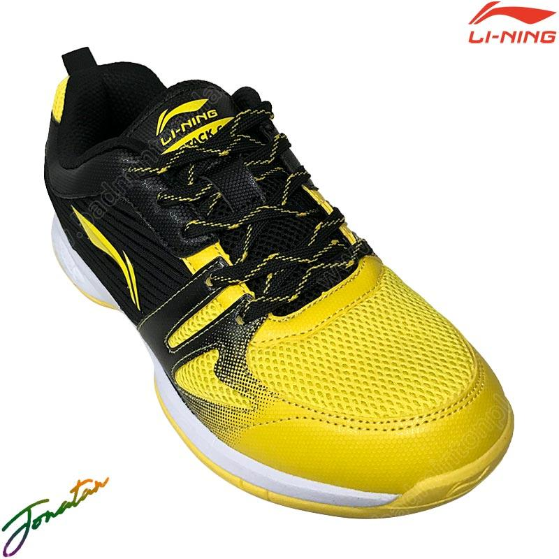 Li-Ning Badminton Shoes ATTACK G8 Yellow/Black (AY