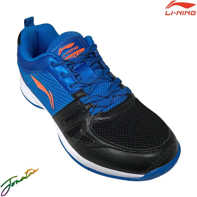 Li-Ning Badminton Shoes ATTACK G8 Black/Blue (AYTR