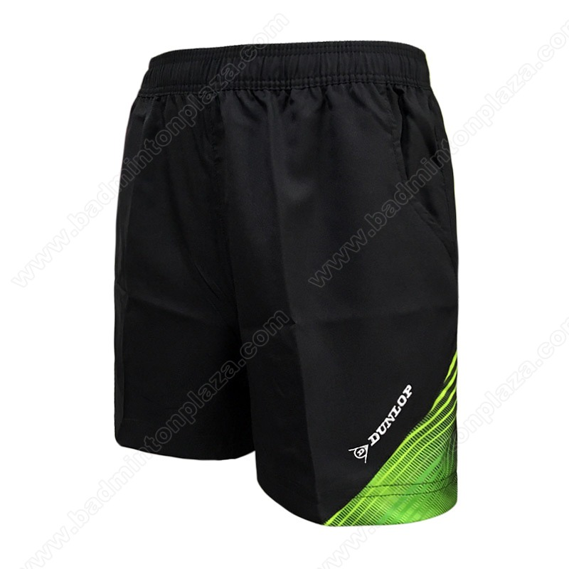 DUNLOP Sports Shorts Black/Green (DBP17SM01A)