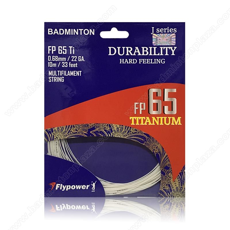 Flypower Badminton Strings FP 65 TITANIUM (FP-65-Ti)