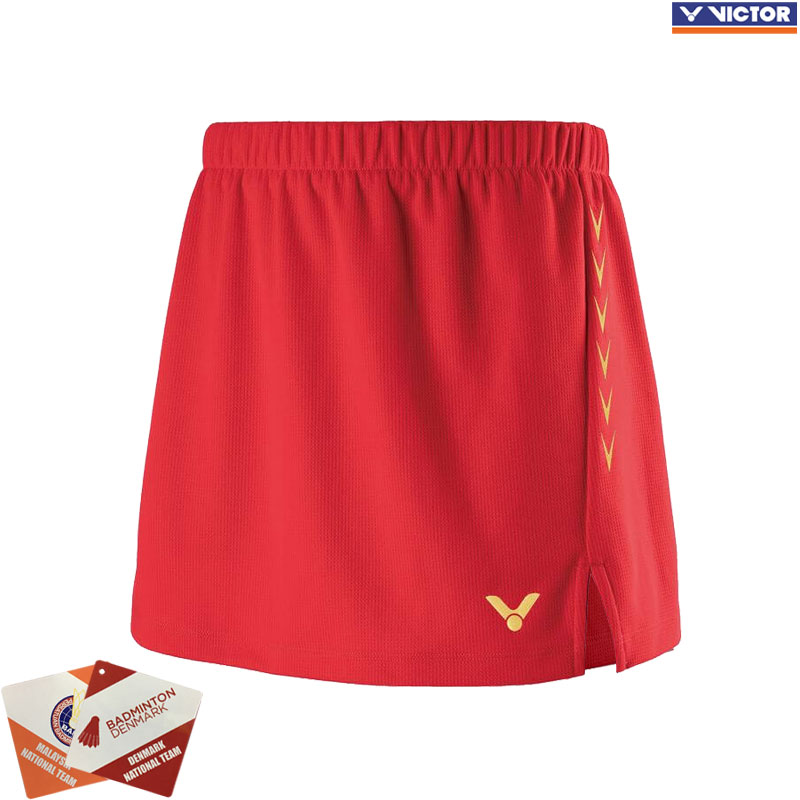 Victor 2019 Competition Skirt Red (K-91300D)