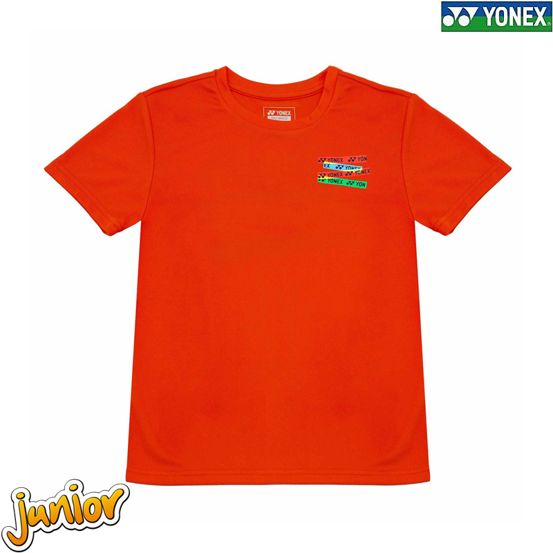 Yonex 1897 Kids Round Neck Tees VERMILLION ORANGE