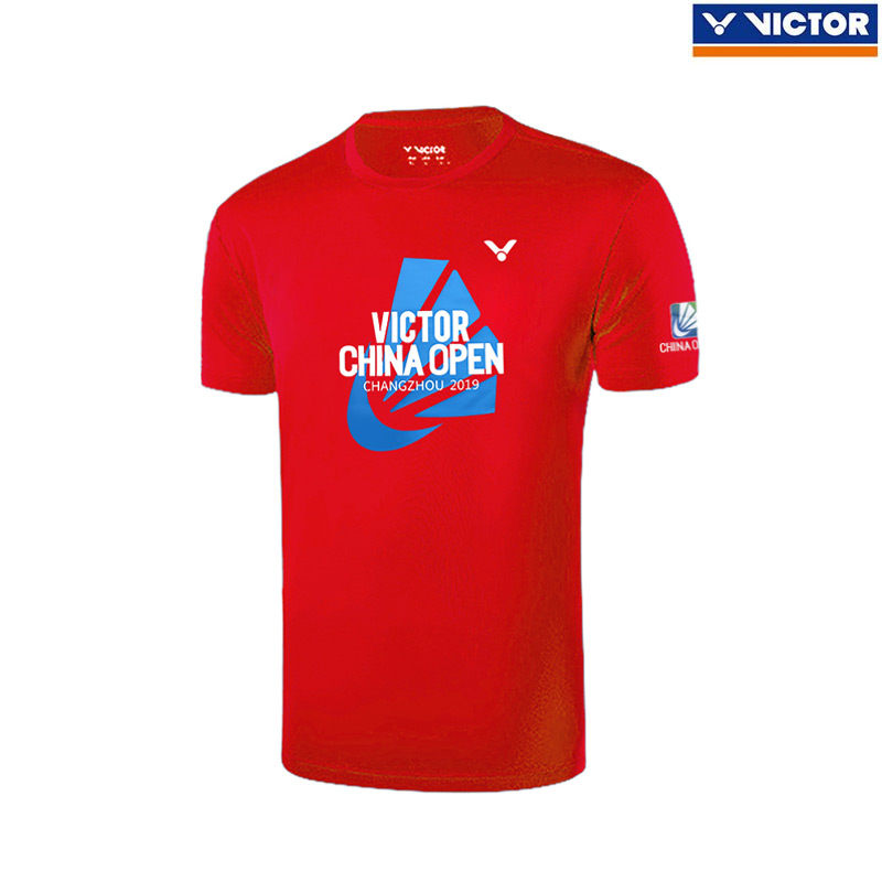 VICTOR CHINA OPEN 2019 Round Tee Red (T-95008D)