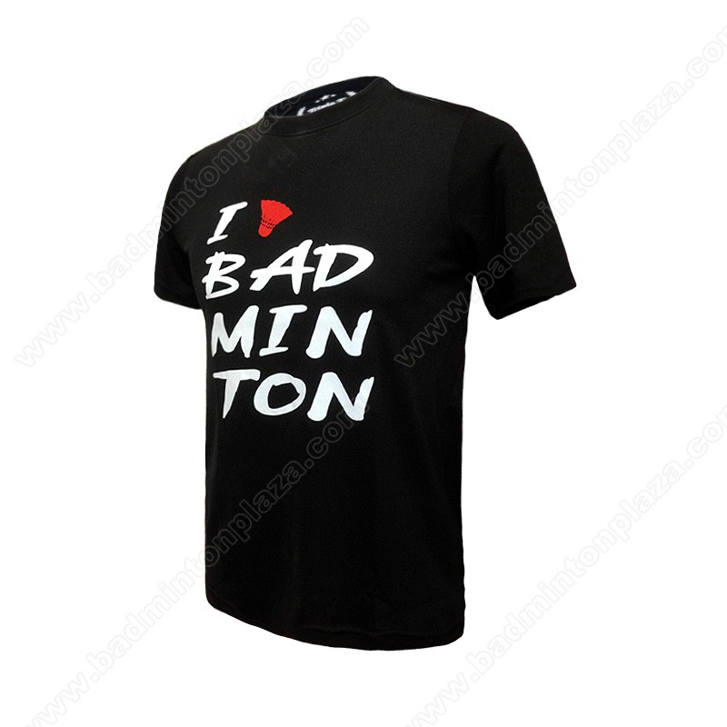 Triple-T RN Tee I Love Badminton Black (TT-BW-05)