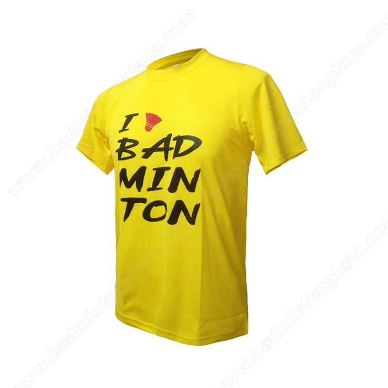 Triple-T RN Tee I Love Badminton Yellow (TT-BW-08)