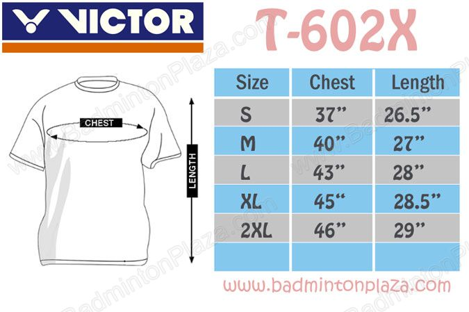 Victor-T-Shirt-Size-Chart