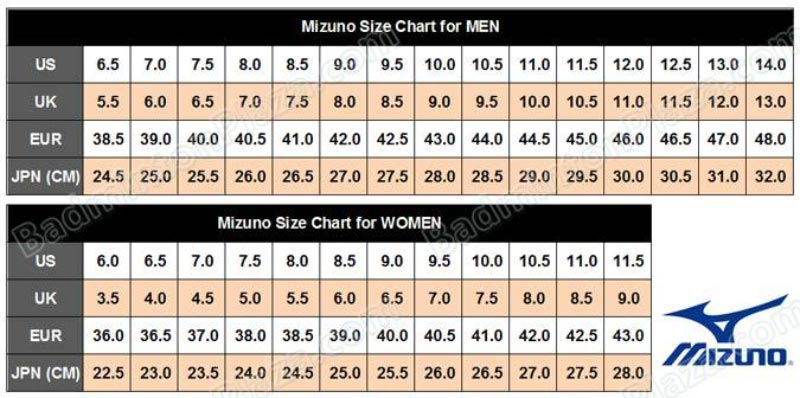 Mizuno-Shoes-Size-Chart